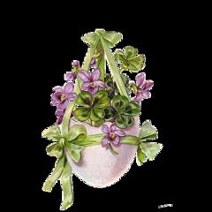 easter egg purpleflowers freetoedit