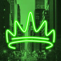 pretty city greencity neon green neongreen wallpaper citylights citystreets streetlights freetoedit