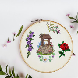 wish flower freetoedit ircdesignanembroideryhoop designanembroideryhoop