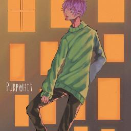 purpwhit animeart aestheticart manga artstyle