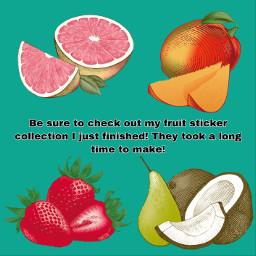 fruit grapefruit mango strawberry coconut pear sticker freetoedit