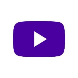 darkpurple youtube logo icon
