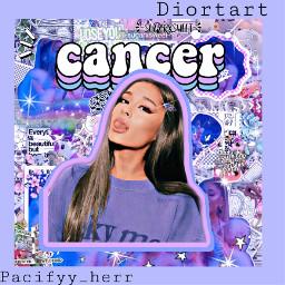 cancer arianagrande purple blue backround freetoedit echoroscopes horoscopes