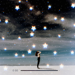 replay picsartreplay beach moon stars night play surreal freetoedit
