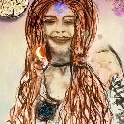 drawing charchoal 2021 reborn london retouched picsart freetoedit