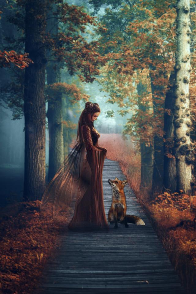 #myedit #madewithpicsart #magical #forest #fantasy #fairytale #fairy #fox #picsarteffects #stickeroverlay #adjusttool #dodgereffect