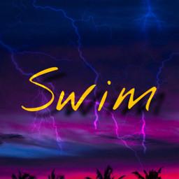 freetoedit swim aestheticedit aesthetic palmeras morado rosa azul ñink blue purpple rayos