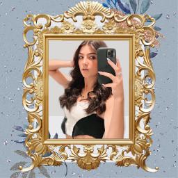 charlidamelio mirror selfie photo phone blue charli damelio freetoedit