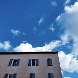 sky clouds architecture blue structure windows troughmywindow freetoedit