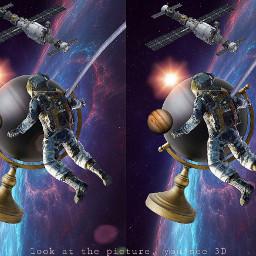 freetoedit astronaut planet universum raumstation