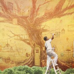 freetoedit wallmural painting remixit editoftheday window wall art