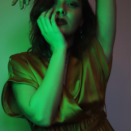 freetoedit girl woman portrait photography gold green