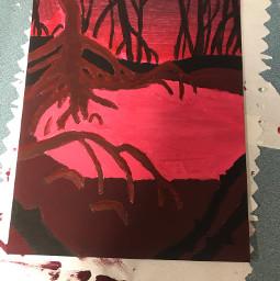 origionalart traditionalart painting mangrove spooky hangedman hangedmansrealm