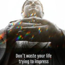buddha dontwasteyourtime impressed dontwasteyourlife