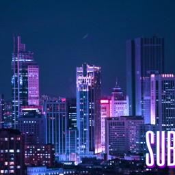 freetoedit banner youtube youtubechannel youtuber youtubebanner city purple