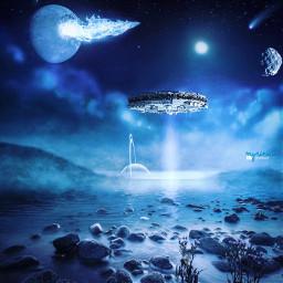 myriam70 surreal aliens planets photomanipulation