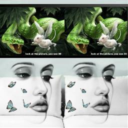 freetoedit snake mouse jungle woman ircgallerywall