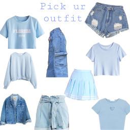 blueoutfit pickyouroutfit cutecolour babyblue freetoedit