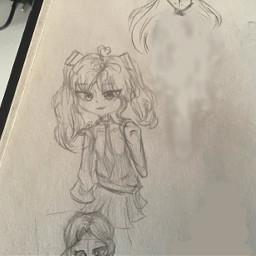 newoc traditionalart art paper pencil sketch wip sketchbook oc gachaoc