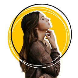 girl frame yellow profile ugreplay freetoedit