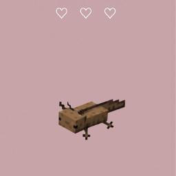 iphonewallpaper wallpaper minimalistic iphone phonewallpaper axolotl cute iphones hearts wildaxolotl brown pink lovely