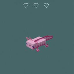 iphonewallpaper wallpaper androidwallpaper phonewallpaper minimalism minimalistic axolotl minecraft cute lovely pink green uwu