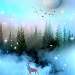 forest deer freetoedit
