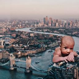 freetoedit giant baby picsart ecgiantpeople giantpeople
