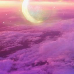 moon clouds purple purpleclouds purplelover purpleaesthetic freetoedit