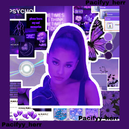 arianagrande purple aesthetic butterfly sad mood freetoedit