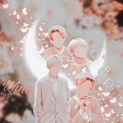 freetoedit bobatae winwin wayv aesthetic spft cute moon pink peachy