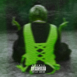 playboicarti opium slatt artistic colorful colorsplash green black greenblack rapper offwhite carti vampire style model sitting rap hiphop wlr wholelottared freetoedit