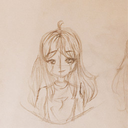 girl oc girloc art traditionalart sketch outline paper pencil sad tears cry edgy