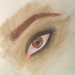 eye eyeliner petewentz fob falloutboy blurr eyebrow art interesting brown black pink tan white pretty emo foryou sketch bytanakay tanakay bytanakayyt tanakayyt artbytana