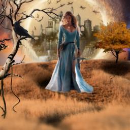 freetoedit myedit fantasy myedit editedbyme araceliss portrait castle warrior girl