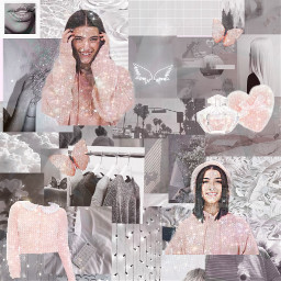 charlidamelio aestetic colage collage pink grey freetoedit