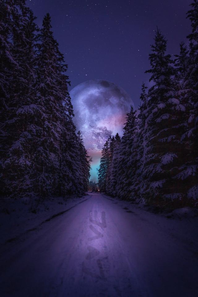 L 💜 V E    - - - - - - - - #interesting #art #moon #moonlight #love #edit #newedit #nature #sky #picsart