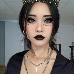 blackqueen goth makeover makeup black edit fashion iwasbored freetoedit