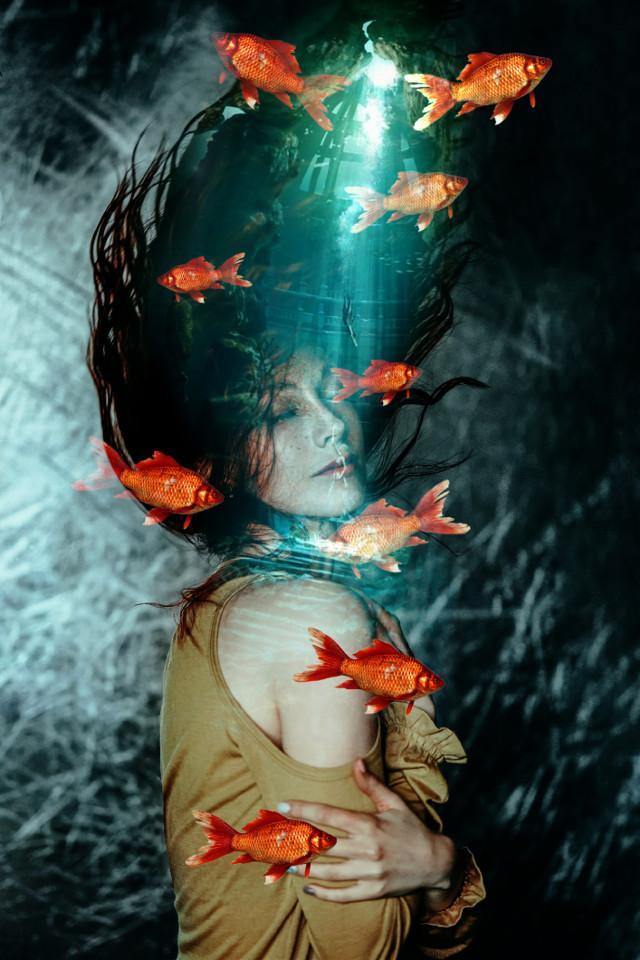 Be creative with PicsArt  #madewithpicsart #picsart #sea #girl #mermaid #fish