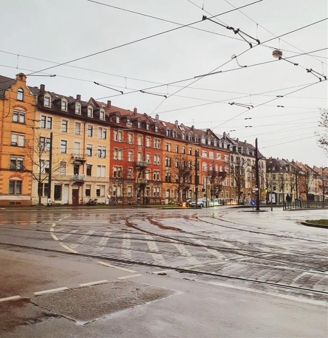 #karlsruhe #city #rain #houses