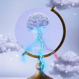 freetoedit brain lightning clouds