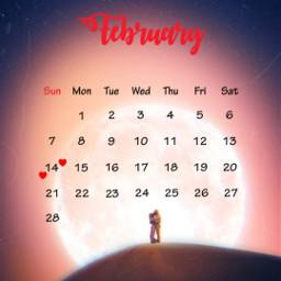 moon nigth romantic calendarfebruary2021 mrlb2000 freetoedit srcfebruarycalendar2021 februarycalendar2021