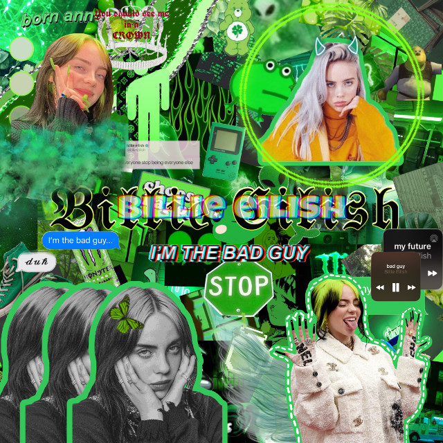🐍💚Billie Eillish💚🐍                                              Shoutout to @ma_asdfghjkl and @n1suhki my ibf, ily both 💙. #billieeilish #greenaesthetic #green #complex