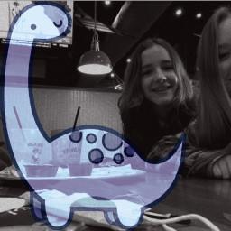 bestfriends dinosaur blackandwhite freetoedit