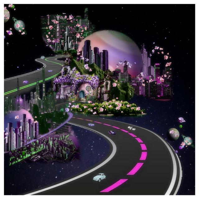 #galaxy #ecgalacticroadtrip #galacticroadtrip #road #cosmos #art #world #surreal #editedbyme #city #planet #black #sciencefiction #scifi #fantasy