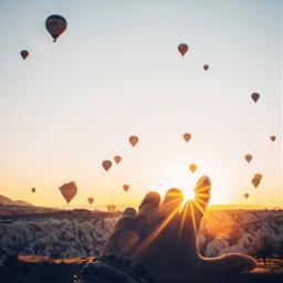 wallpaper hotairballoons sunset