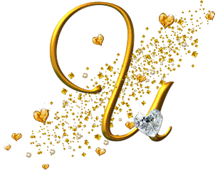 letter u golden alphabet freetoedit