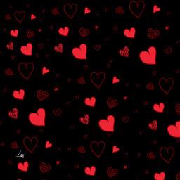 love background valentinesdaybackround valentinesday heart blackred blackbackground madebyme freetoedit remixit