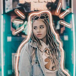 freetoedit jurassicpark arcadegame arcade videogame game neon neonlights girl outline