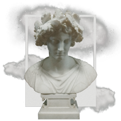 statue aesthetic aesthetictumblr clouds effects glitter space pantone frame grunge greece rome freetoedit